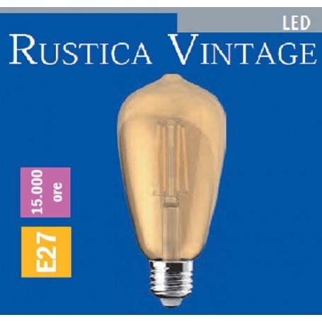 LAMPADA LED RUSTICA VINTAGE 4 WATT E27 IMPERIA 6010105