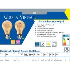 LAMPADA LED GOCCIA VINTAGE 8 WATT E27 2200K IMPERIA 6010006