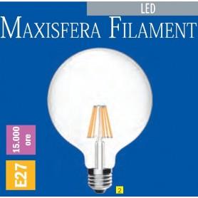 LAMPADA LED MAXISFERA Ø95 FILAMENT E27 6 WATT 2700K IMPERIA 6009079