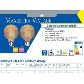 LAMPADA LED MAXISFERA Ø95 VINTAGE E27 8 WATT 2200K IMPERIA 6010075