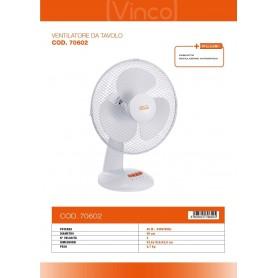 VENTILATORE DA TAVOLO VINCO 70601 40W DIAMETRO 30