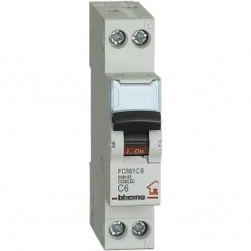 BTICINO interruttore magnetotermico 1P+N curva C 6A 4,5kA 230 Vac FC881C6