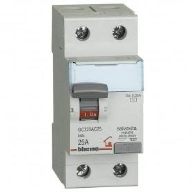 BTICINO Interruttore differenziale SALVAVITA 2P AC 25A 230/400 Vac GC723AC25