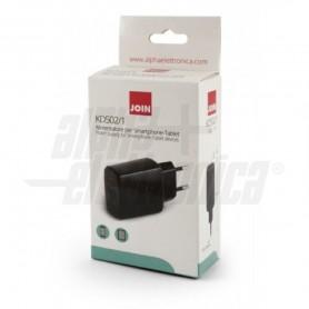CARICATORE ALIMENTATORE SMARTPHONE USB 5W 1A 5V ALPHA ELETTRONICA KD502/1 NERO