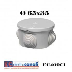 SCATOLA DI DERIVAZIONE IP4455 CASSETTA STAGNA VARIE MISURE ELETTROCANALI SERIE EC400C1