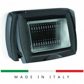 PLACCA AUTOPORTANTE STAGNA COMPATIBILE BTICINO LIVING 3 POSTI ECL4611N