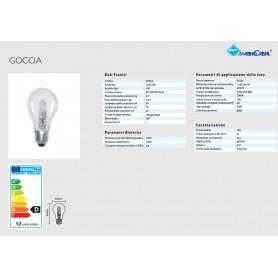 LAMPADA GOCCIA LAMPADINA ALOGENA POWERLIGHT 52W E27 MARINO CRISTAL 20764