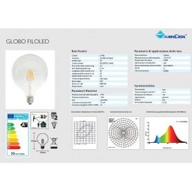 LAMPADA GLOBO LAMPADINA FILO LED 10W E27 LUCE CALDA 2700K MARINO CRISTAL 21466