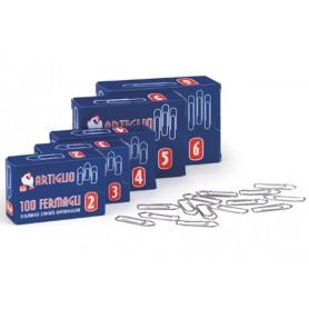 Fermagli in acciaio conf. 10 scatole da 100pz - Misura n.3