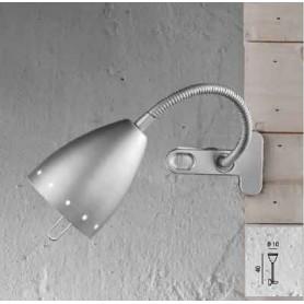 Lampada Da Tavolo Argento Flex Con Pinza  40W Modello Perenz 4512A