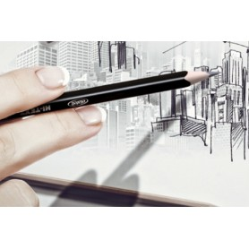 HI-TEXT 060 GRAFIX matita grafite esagonale HB 2 12 Q.ta ETAFELT - 1