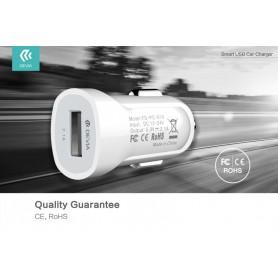 Caricabatteria Auto 2.1A USB Smart Devia Bianco