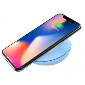 Carica batterie wireless Qi 10W per iPhone Samsung ecc.. Blu