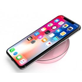 Carica batterie wireless Qi 10W per iPhone Samsung ecc. Rosa