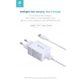 Carica Batteria Rapido Uscita USB 4.5 A. InclusoCavo Tipo-C