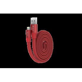 Cavo Piatto in corda Ring Y1 Lightning Apple 80cm Rosso