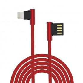 Cavo King USB - Lightning ad angolo 90° Rosso