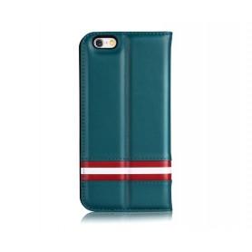 Cover a Libro in Pelle Italiana Bally iPhone 6/6S Plus Blu