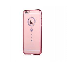 Cover Swarovski iPhone 6/6S Plus Crystal Camelia Blu RG