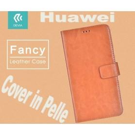 Custodia a Libro in Pelle Per Huawei NOVA Plus Marrone