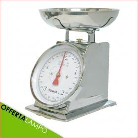 Bilancia Cucina Meccanica Analogica Howell Max 5 Kg Precisione 20g HBC655