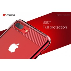 Cover Alta Protezione Brightness per iPhone 7 & 8 Rossa