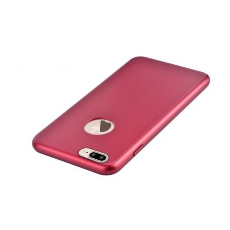 Cover CEO Microfibra Per iPhone 7 Plus Con Vista Logo Rossa