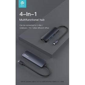 HUB 4 in 1 da Tipo-C a Usb 3 HDMI carica PD