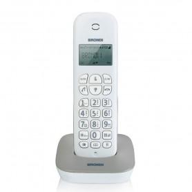 TELEFONO CORDLESS BRONDI GALA WHITE GREY ECO DECT CON SVEGLIA BIANCO GRIGIO