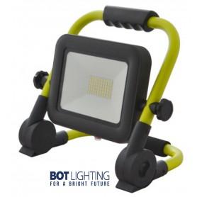 FARETTO PROIETTORE LED WORK LIGHT Portatile 30W 4000K IP65 Ricaricabile Bot Lighting - 1