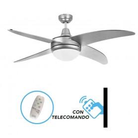 Ventilatore a soffitto con Telecomando luce LED CAYO LARGO Dm130 cfg ev084 cm