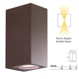 APPLIQUE DOPPIA EMISSIONE TOLEDO2C CORTEN BOT LIGHTING