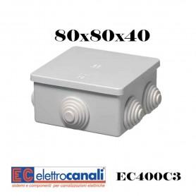SCATOLA DI DERIVAZIONE IP4455 CASSETTA STAGNA VARIE MISURE ELETTROCANALI SERIE EC400C3