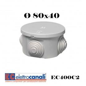 SCATOLA DI DERIVAZIONE IP4455 CASSETTA STAGNA VARIE MISURE ELETTROCANALI SERIE EC400C2
