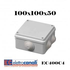 SCATOLA DI DERIVAZIONE IP4455 CASSETTA STAGNA VARIE MISURE ELETTROCANALI SERIE EC400C4