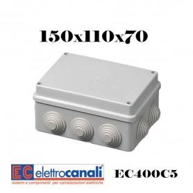 SCATOLA DI DERIVAZIONE IP4455 CASSETTA STAGNA VARIE MISURE ELETTROCANALI SERIE EC400C5