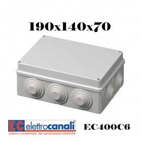 SCATOLA DI DERIVAZIONE IP4455 CASSETTA STAGNA VARIE MISURE ELETTROCANALI SERIE EC400C6
