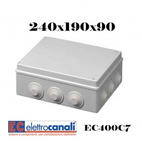 SCATOLA DI DERIVAZIONE IP4455 CASSETTA STAGNA VARIE MISURE ELETTROCANALI SERIE EC400C7