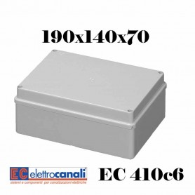 SCATOLA DI DERIVAZIONE EST IP56 CASSETTA STAGNA VARIE MISURE ELETTROCANALI EC410C6