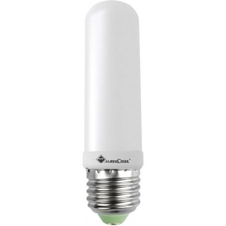 LAMPADA LED TUBOLARE LAMPADINA 8W 230V E27 3000K LUCE CALDA 21297 MARINO CRISTAL MARINO CRISTAL - 1