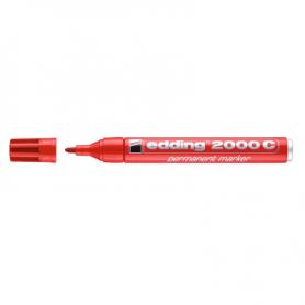 Marcatore EDDING 2000C - Rosso - punta conica -  conf. 10 pz
