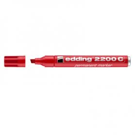 Marcatore EDDING 2200C - Rosso - p. scalpello -  conf. 10 pz