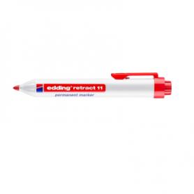 Marcatore EDDING 11 - Rosso - punta retrattile - conf. 10 pz
