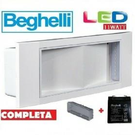 LAMPADA EMERGENZA BEGHELLI LED 1499 11W 220V AUTONOMIA 8 Ore STILE IN 8106/11 BEGHELLI - 1