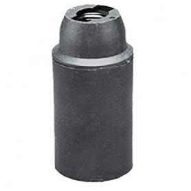 Portalampada E14 termoplastico camicia liscia cappello con filetto nero LAMPO LIGHTING - 1