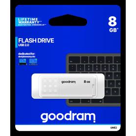 Pendrive GoodRAM 8GB UME2 white USB 2.0 - retail blister GOODRAM - 1