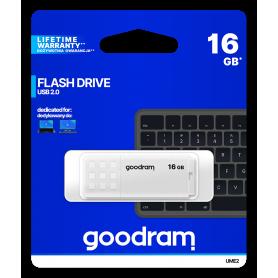 Pendrive GoodRAM 16GB UME2 white USB 2.0 - retail blister GOODRAM - 1