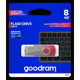 Pendrive GoodRAM 8GB UTS3 RED USB 3.0 - retail blister GOODRAM - 1