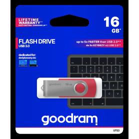 Pendrive GoodRAM 16GB UTS3 RED USB 3.0 - retail blister GOODRAM - 1