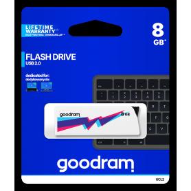 Pendrive GoodRAM 8GB UCL2 WHITE USB 2.0 - retail blister GOODRAM - 1